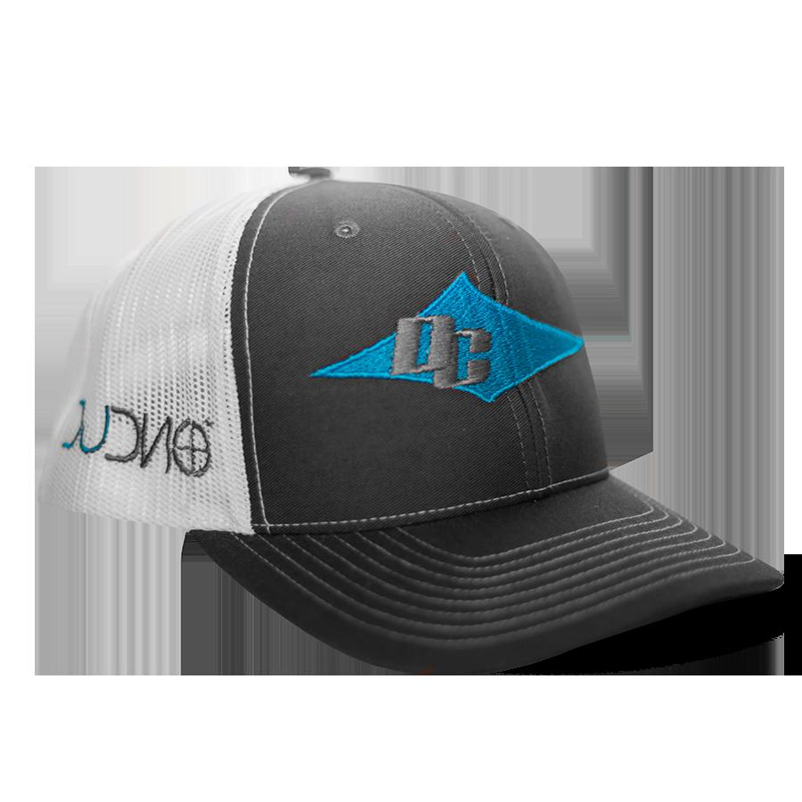 DC Hat (White, Charcoal, Blue)