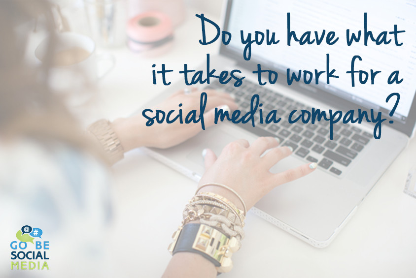 Working for a social media company