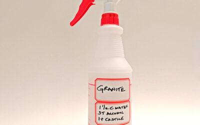 DIY Granite Cleaner