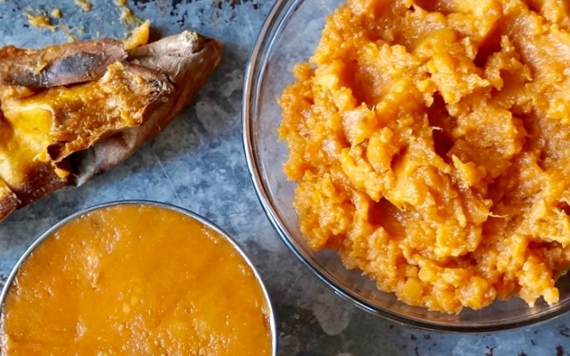 Cooking Lessons. How To Make Sweet Potato Casserole. Measuring Sweet Potatoes For Recipe Applications By Rebecca Gordon Buttermilk Lipstick Southern Hostess TV Cooking Personality Editor-In-Chief Southern Cooking Tailgating Entertaining Lifestyle Brand Pastry Chef Author Writer Food Stylist Photographer Editorial Director Talent WBRC Fox 6 Contributor Birmingham Alabama