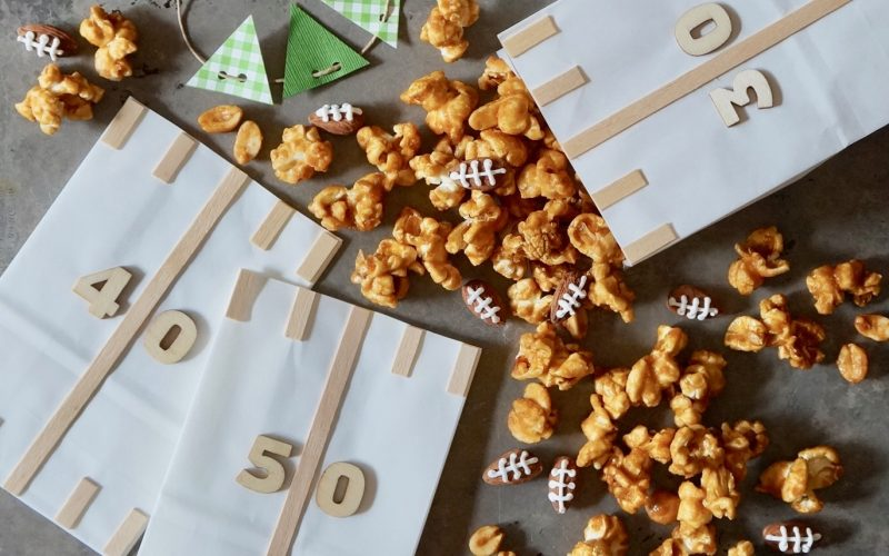 Gameday Entertaining. Gridiron Whiskey Caramel Corn By Rebecca Gordon Editor-In-Chief Buttermilk Lipstick Tailgating Recipes Football Appetizers Tailgate Party Recipes & Ideas How To Make Caramel Corn Southern Entertaining Southern Hostess Game Day Entertaining