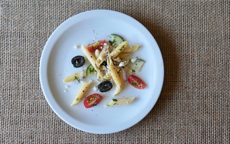 Rebecca-Gordon-Southern-Entertaining-Greek-Pasta-Salad-Buttermilk-Lipstick-Southern-Hostess-Spring-Parties-RebeccaGordon-Pastry-Chef-Birmingham-Alabama-TV-Cooking-Personality