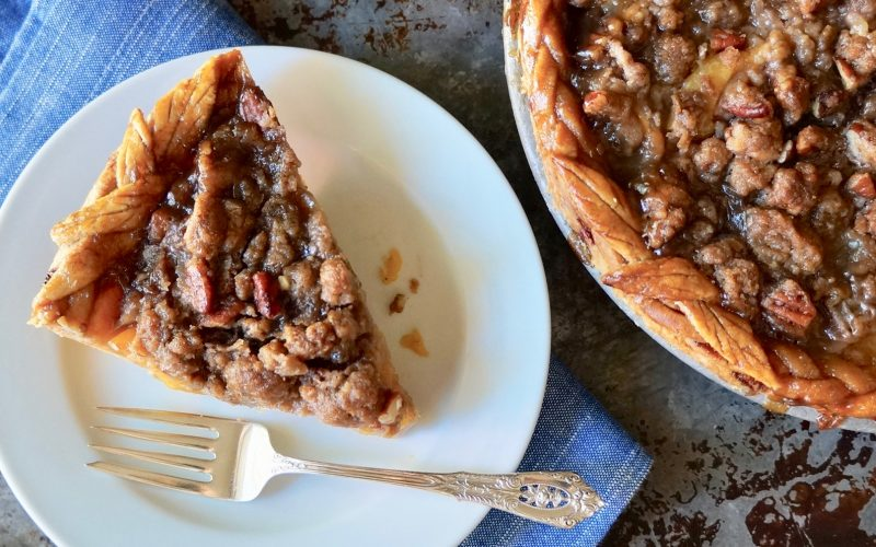Crowning Jewel Bourbon-Pecan Peach Pie By Rebecca Gordon TV Cooking Personality Buttermilk Lipstick Editor-in-Chief Pastry Chef Writer Southern Hostess Food Stylist Tailgating Expert Author Sports Entertaining Cooking Lessons Tide & Tigers Today Tailgate Host WBRC Fox 6 How To Make Peach Pie