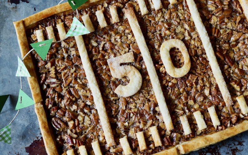 Game Day Entertaining: Gridiron Whiskey-Pecan Slab Pie By Rebecca Gordon Buttermilk Lipstick Editor-in-Chief Birmingham Alabama TV Cooking Personality Pastry Chef Tailgating Expert Southern Hostess Sports Entertaining Tide & Tigers Today Tailgate Host WBRC Fox 6