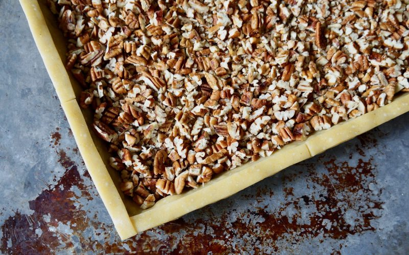 Game Day Entertaining: Gridiron Whiskey-Pecan Slab Pie By Rebecca Gordon Buttermilk Lipstick TV Cooking Personality Birmingham Alabama Editor-in-Chief Tailgating Expert Sports Entertaining Tide & Tigers Today Tailgate Host WBRC Fox 6