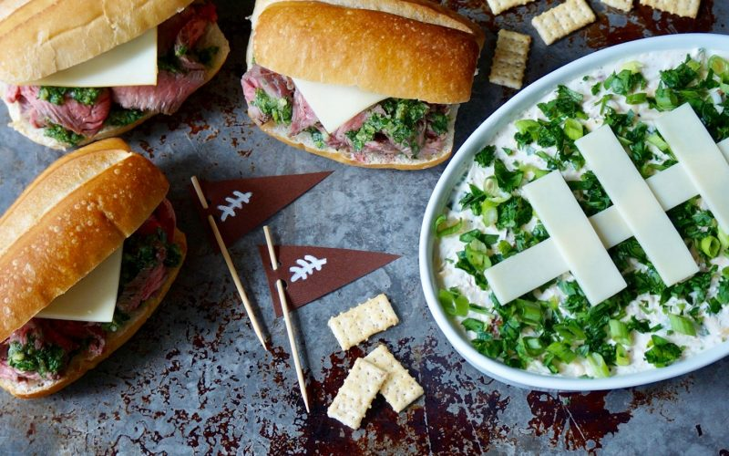 Game Day Entertaining: Grilled Steak Heroes With Gridiron Salsa Verde & Million Dollar Football Dip By Rebecca Gordon Buttermilk Lipstick TV Cooking Personality Birmingham Alabama Southern Hostess Tailgating Expert Sports Entertaining Tide & Tigers Today Tailgate Host WBRC Fox 6 Raycom Sports Cooking Lessons Game Day Food & Tailgate Party Tips