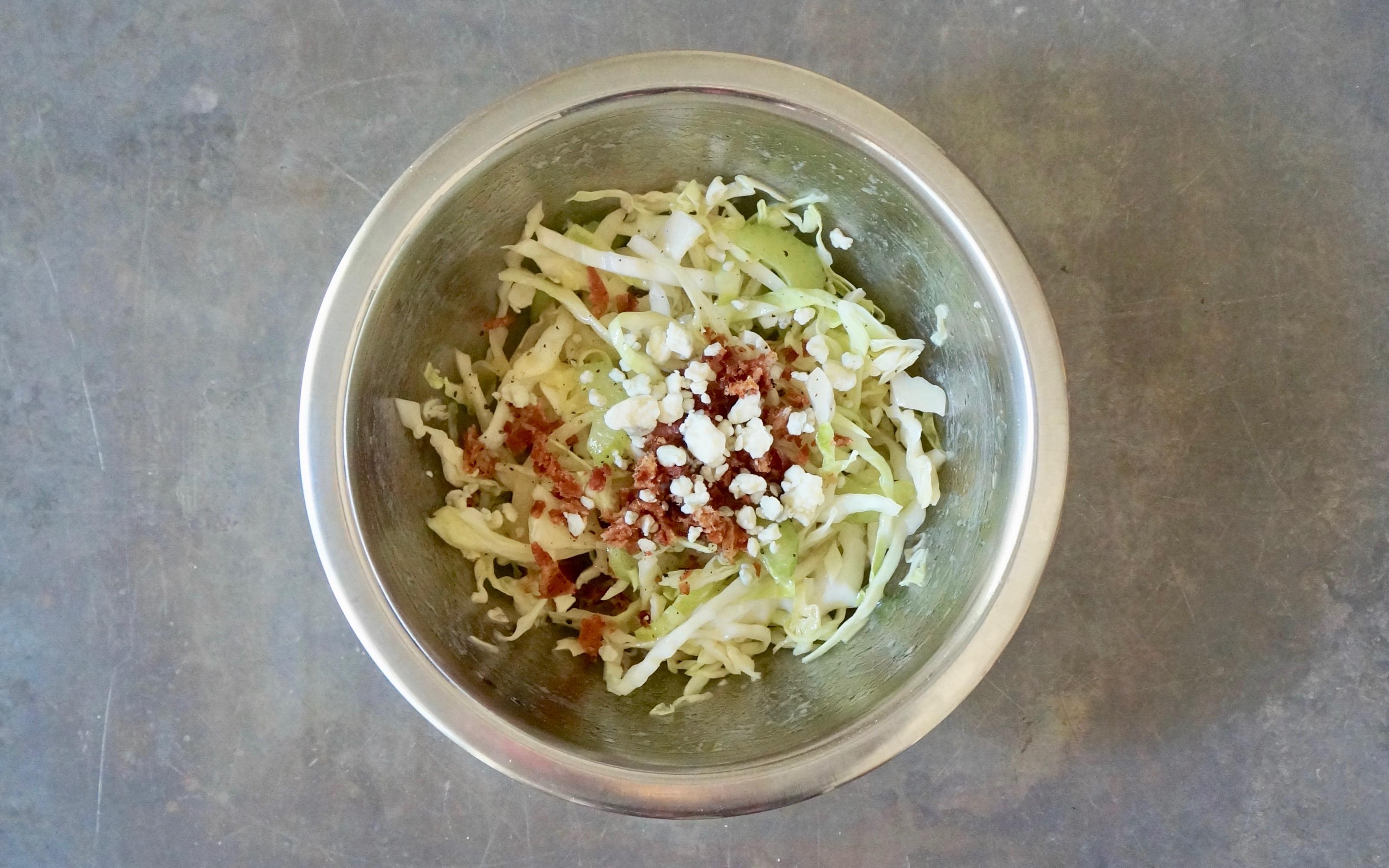 Bacon-Blue-Cheese-Slaw-Rebecca-Gordon-Publisher-Buttermilk-Lipstick-Culinary-Entertaining-Techniques-RebeccaGordon-Birmingham-Alabama