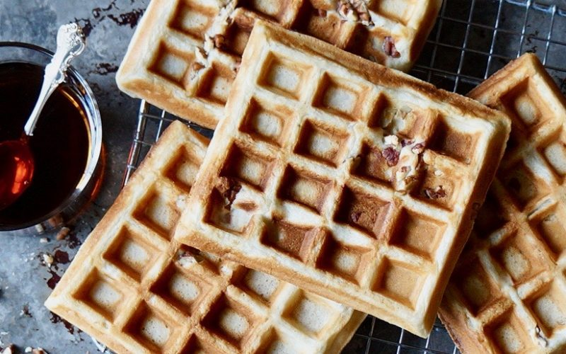 Cooking Classics. Banana Bread Waffles By Rebecca Gordon Editor-In-Chief Buttermilk Lipstick A Culinary & Entertaining Brand How To make Crisp Waffles Banana Bread Waffles Pecan Waffle Cooking & Baking Classics Techniques Breakfast Recipes Brunch Recipes Southern Recipes Pastry Chef Writer Food Stylist Game Day entertaining Modern Southern Socials Parties Entertaining