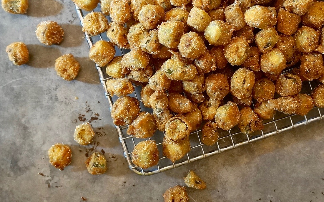 How To Make Classic Buttermilk Fried Okra With Lemon-Garlic Sauce By Rebecca Gordon Editor In Chief Buttermilk Lipstick Culinary & Entertaining Brand Cooking & Baking Tutorials Pastry Chef Writer Food Stylist Food Researcher Tester Developer Teacher TV Cooking Personality Editorial Director Digital Culinary Photo Journalist Southern Hostess Southern Entertaining Summer Entertaining Party Menus Game Day Tailgating Modern Southern Socials Birmingham Alabama