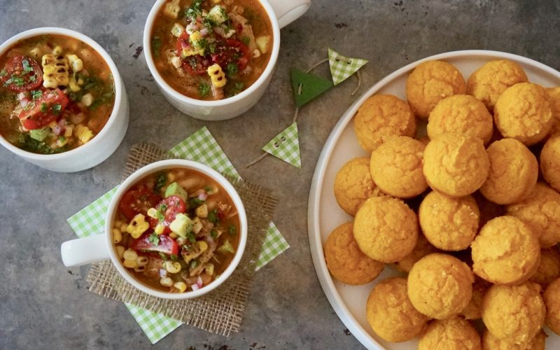Southern-Tailgating-Recipes-Green-Tomato-Smoked-Chicken-Chili-By-Rebecca-Gordon-Editor-In-Chief-Buttermilk-Lipstick-Game-Day-Entertaining-Football-Party-Menu-RebeccaGordon-ButtermilkLIpstick-Game-Day-Recipes-Super Bowl-Party-Southern-Entertaining