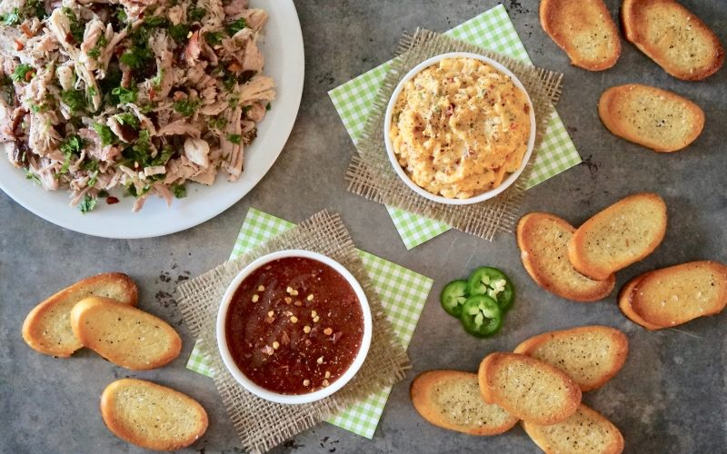 Southern-Tailgating-Recipes-Barbecue-Crostini-With-Smoky-Chipotle-Cheese-Triple-Chocolate-Football-Cheesecake-By-Rebecca-Gordon-Buttermilk-Lipstick-Mini-Football-Party-Food-Stadium-Super-Bowl-Gameday-Entertaining-Southern-Hostess-Sandwich-Appetizer-Dip-Cupcake-Elevate-Birmingham-Alabama
