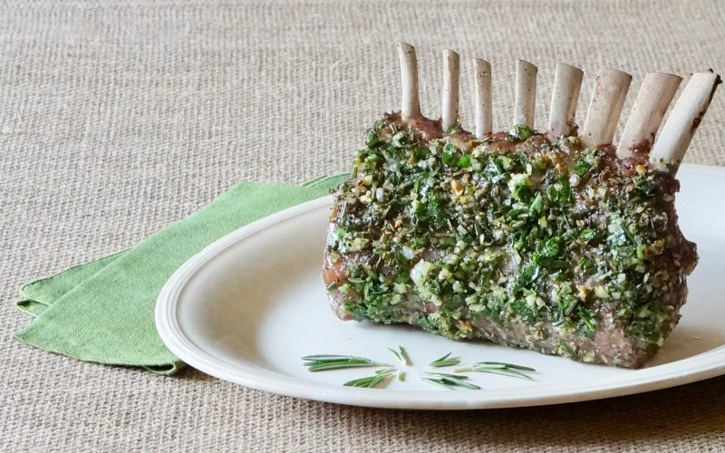 Rosemary-Garlic Rack Of Lamb By Rebecca Gordons Buttermilk Lipstick Culinary Entertaining Instructional Magazine. Easter Recipes. Spring Party Cooking Baking Tutorials Game Day Entertaining Modern Southern Socials RebeccaGordon Pastry Chef TV Cooking Personality Modern Southern Socials Southern Entertaining Spring Party Menus How To Roast Rack Of Lamb ButtermilkLipstick