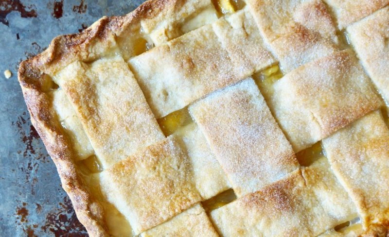 Peach Slab Pie By Rebecca Gordon Buttermilk Lipstick Culinary Entertaining Techniques Cooking & Baking Tutorials Modern Southern Socials Game Day Entertaining How To Make Peach Pie By RebeccaGordon Pastry Chef TV Cooking Personality birmingham alabama Southern Hostess Southern Entertaining Summer Entertaining Parties Barbecue