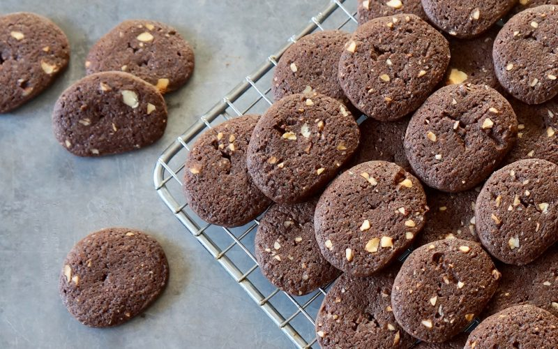 Chocolate-Hazelnut Icebox Cookies By Rebecca Gordon Editor In Chief Buttermilk Lipstick Culinary Entertaining Techniques. Holiday Baking Christmas Cookies cooking baking tutorials modern southern socials game day entertaining rebeccagordon tv cooking personality birmingham alabama pastry chef