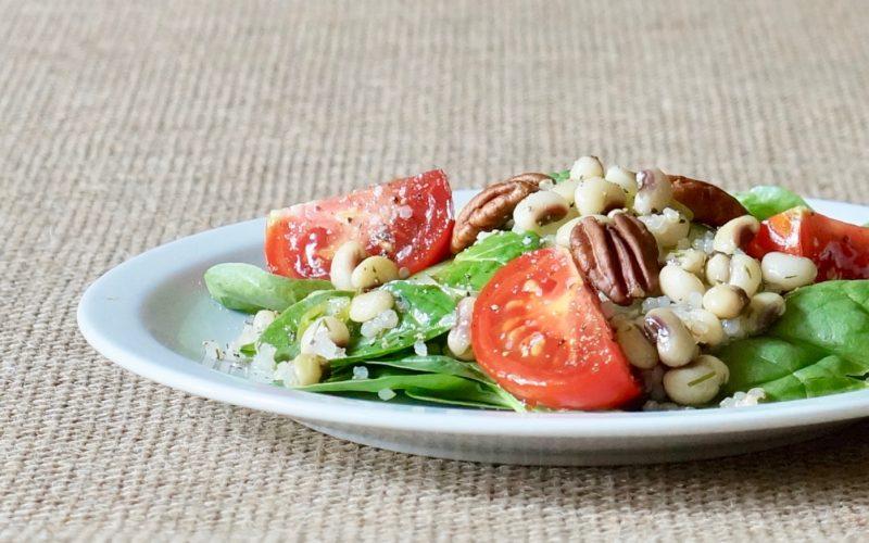 Southern-Hostess-Rebecca-Gordon-Lemon-Dill Tomato-Spinach-Salad-With-Quinoa-Rebecca-Gordon-Publisher-Buttermilk-Lipstick-Culinary-Southern-Entertaining-RebeccaGordon-Chef-Gardener-Birmingham-Alabama