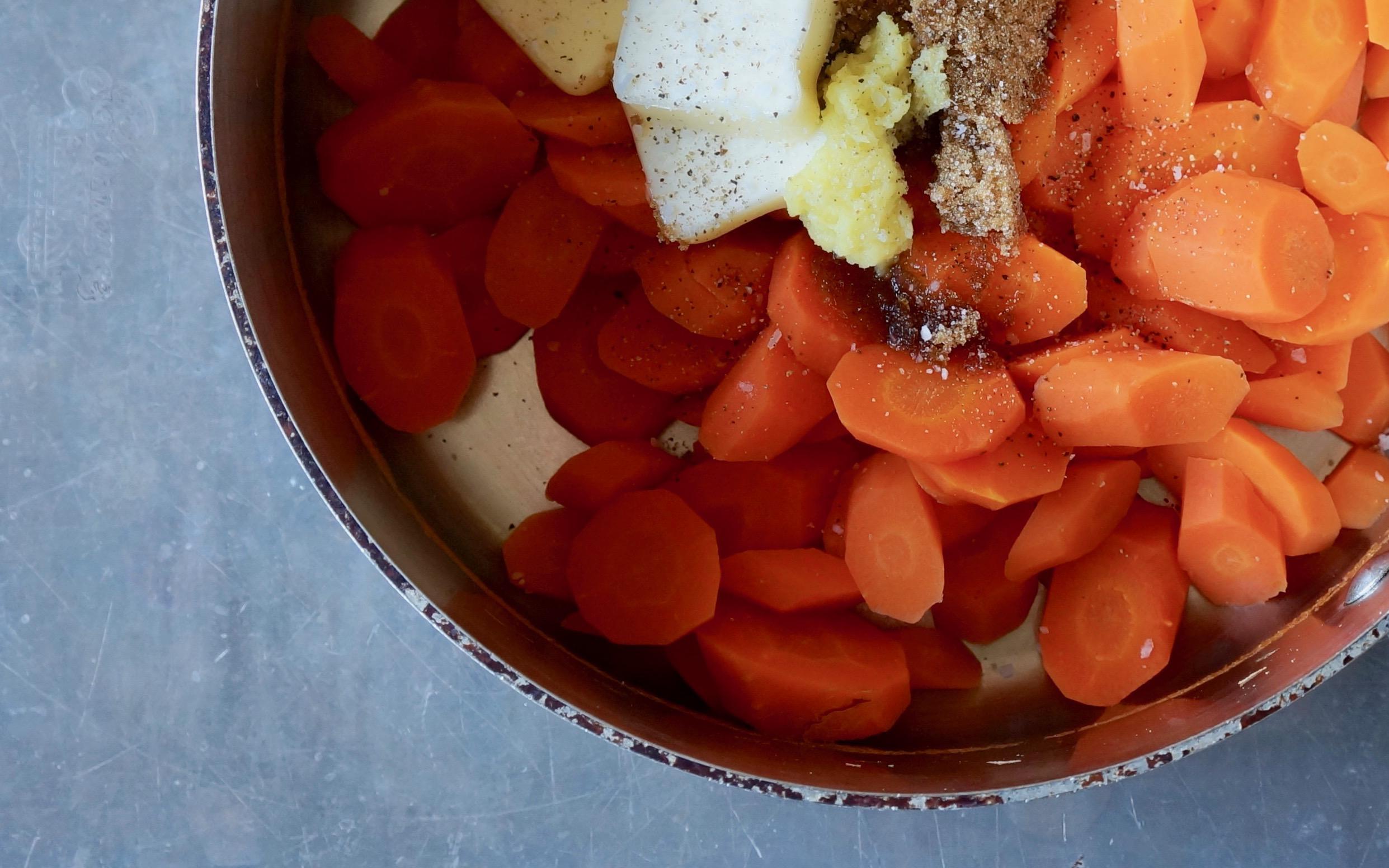 How-To-Make-Ginger-Lemon-Glazed-Carrots-Rebecca-Gordon-Buttermilk-Lipstick-Culinary-Entertaining-Technique-Southern-Hostess-RebeccaGordon-Pastry-Chef-Birmingham-Alabama
