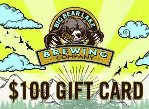 Big Bear Lake Brewing Company - $100 Gift Card