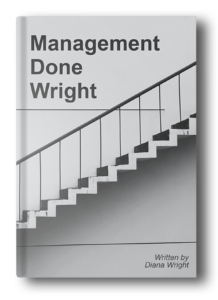 management done wright draft plain book cover