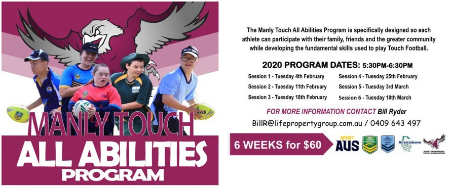 MANLY TOUCH ALL ABILITIES PROGRAM