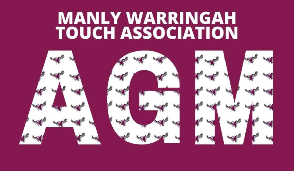 MANLY WARRINGAH TOUCH ASSOCIATION AGM 17th SEPTEMBER 2020