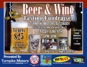 Beer & Wine Tasting Fundraiser at Turnpike Motors Autobody