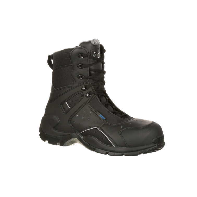 7ff215ca1bf Rocky 1st Med Carbon Fiber Toe Puncture-Resistant Side-Zip Waterproof Duty  Boot