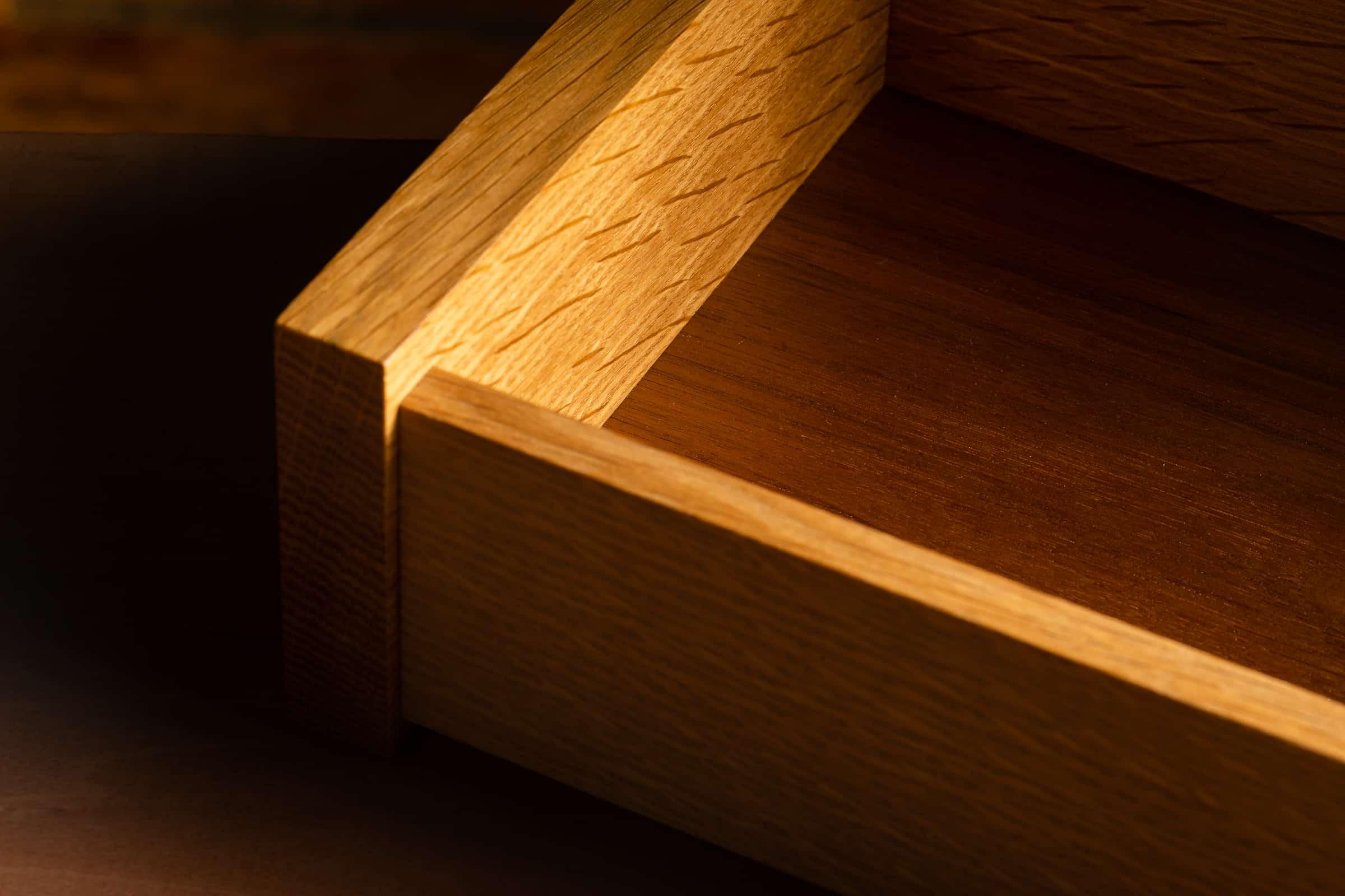 Gold Oak Jewelry Box