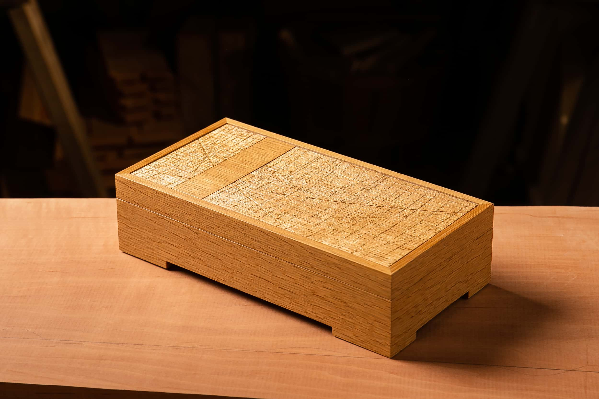 Gold Jewelry Box with Bar