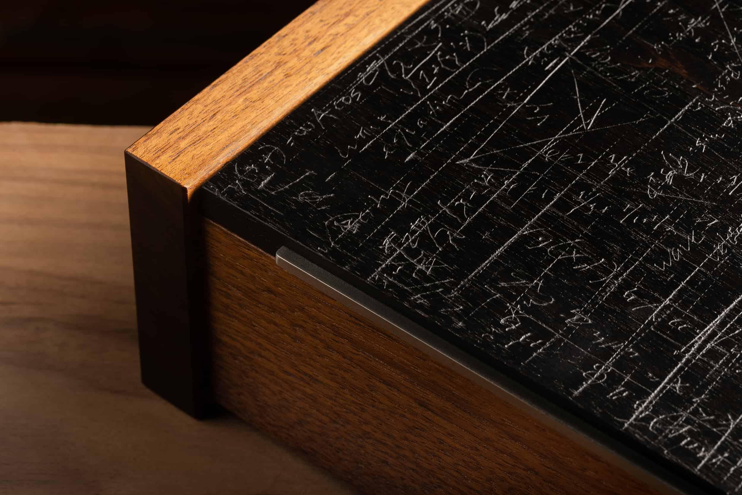 Walnut Jewelry Box: Black Equation