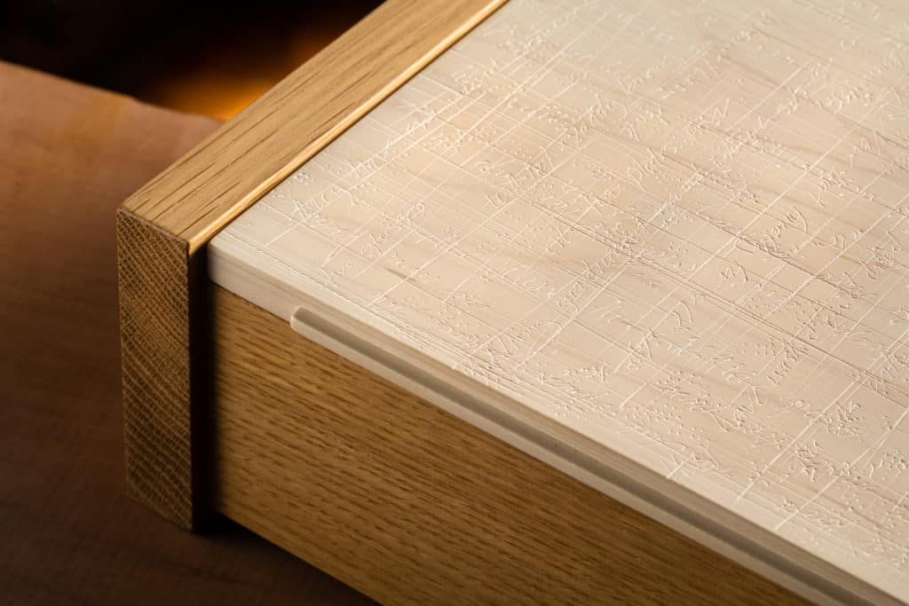 Modern White Oak Jewelry Box