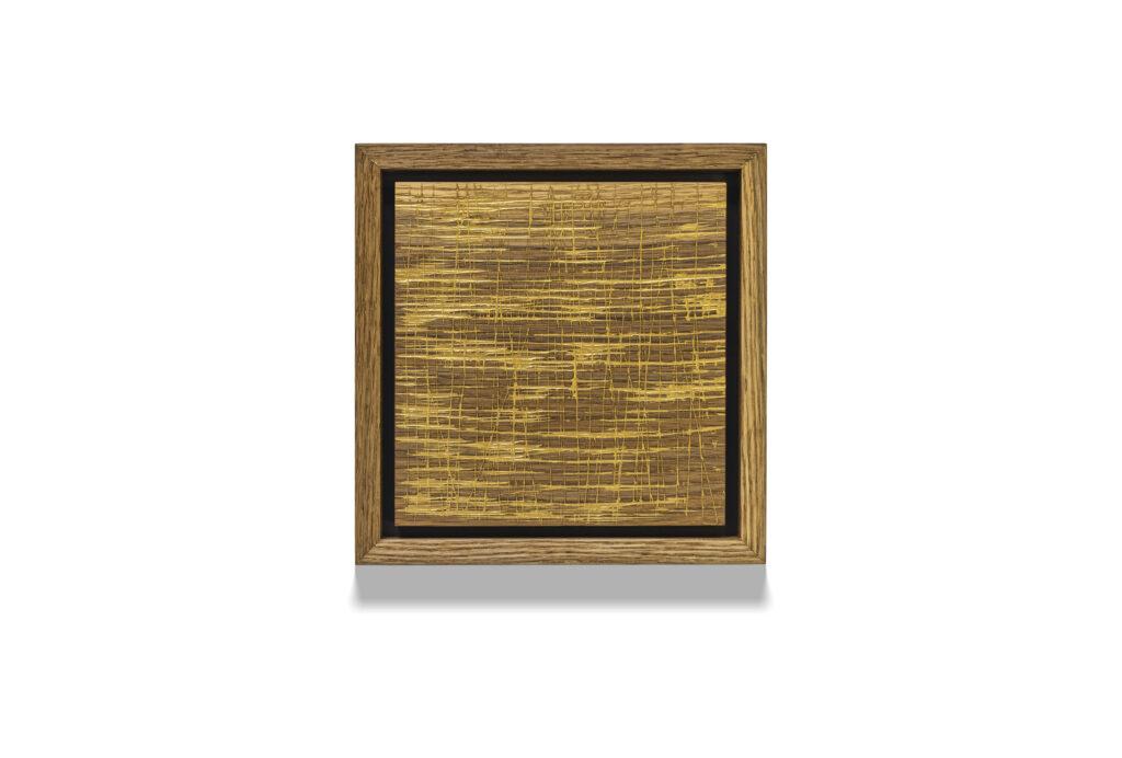 Gold Oak Square Wood Drawing
