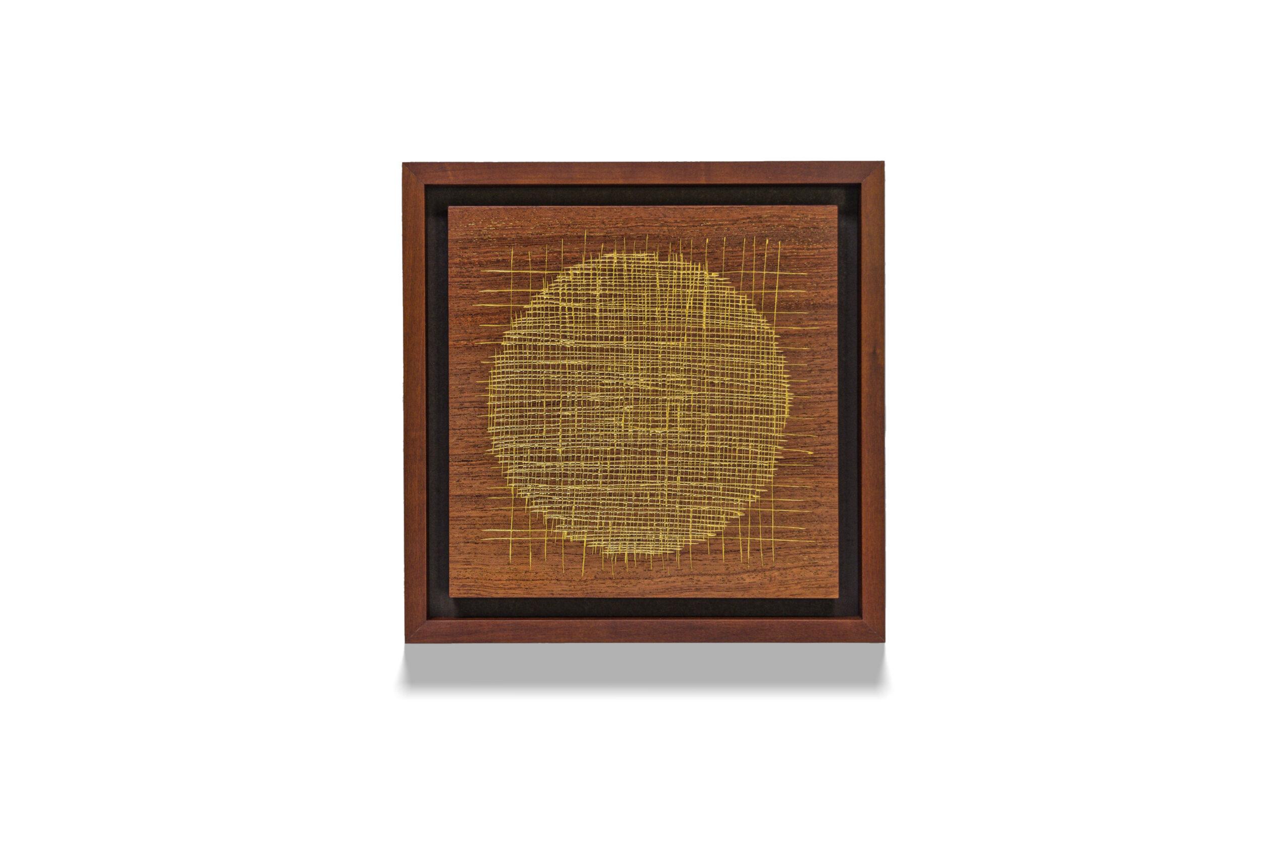Bubinga Circle wood drawing