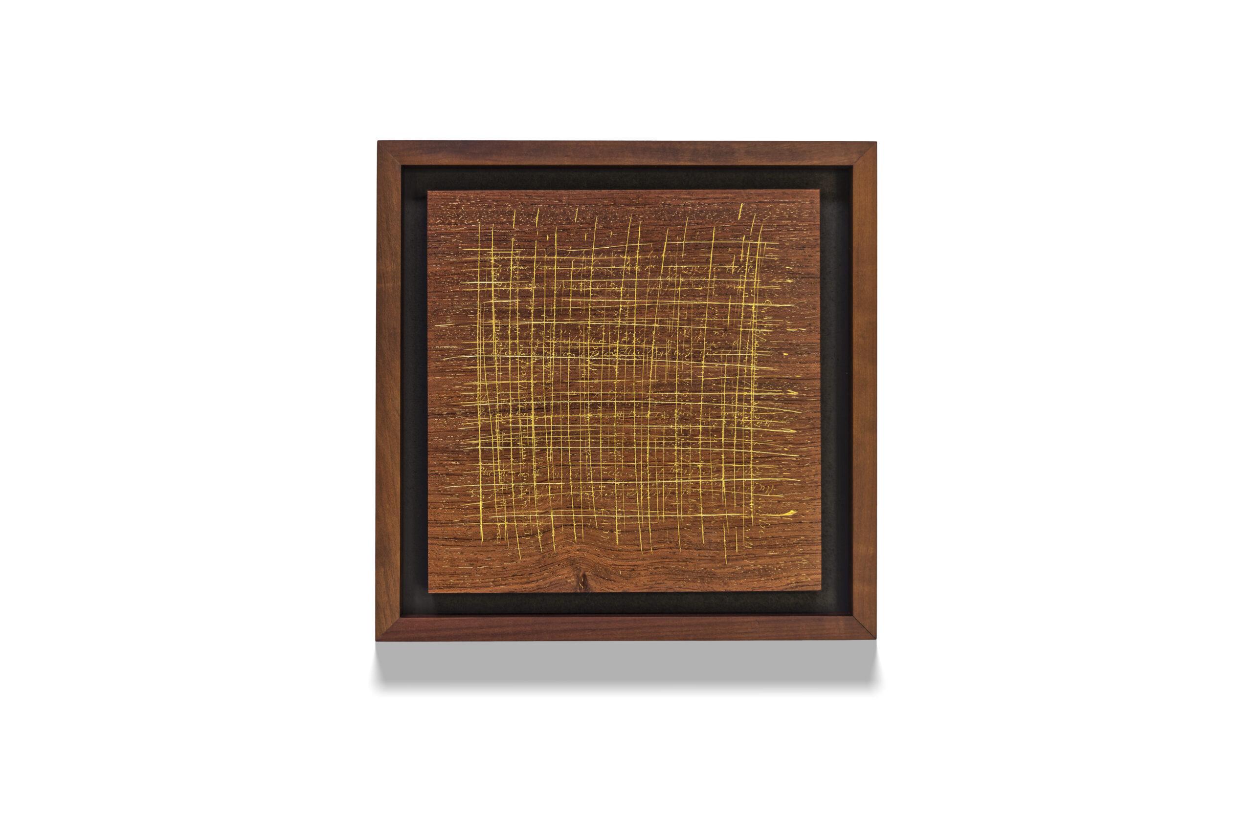 Bubinga Palimpsest wood drawing