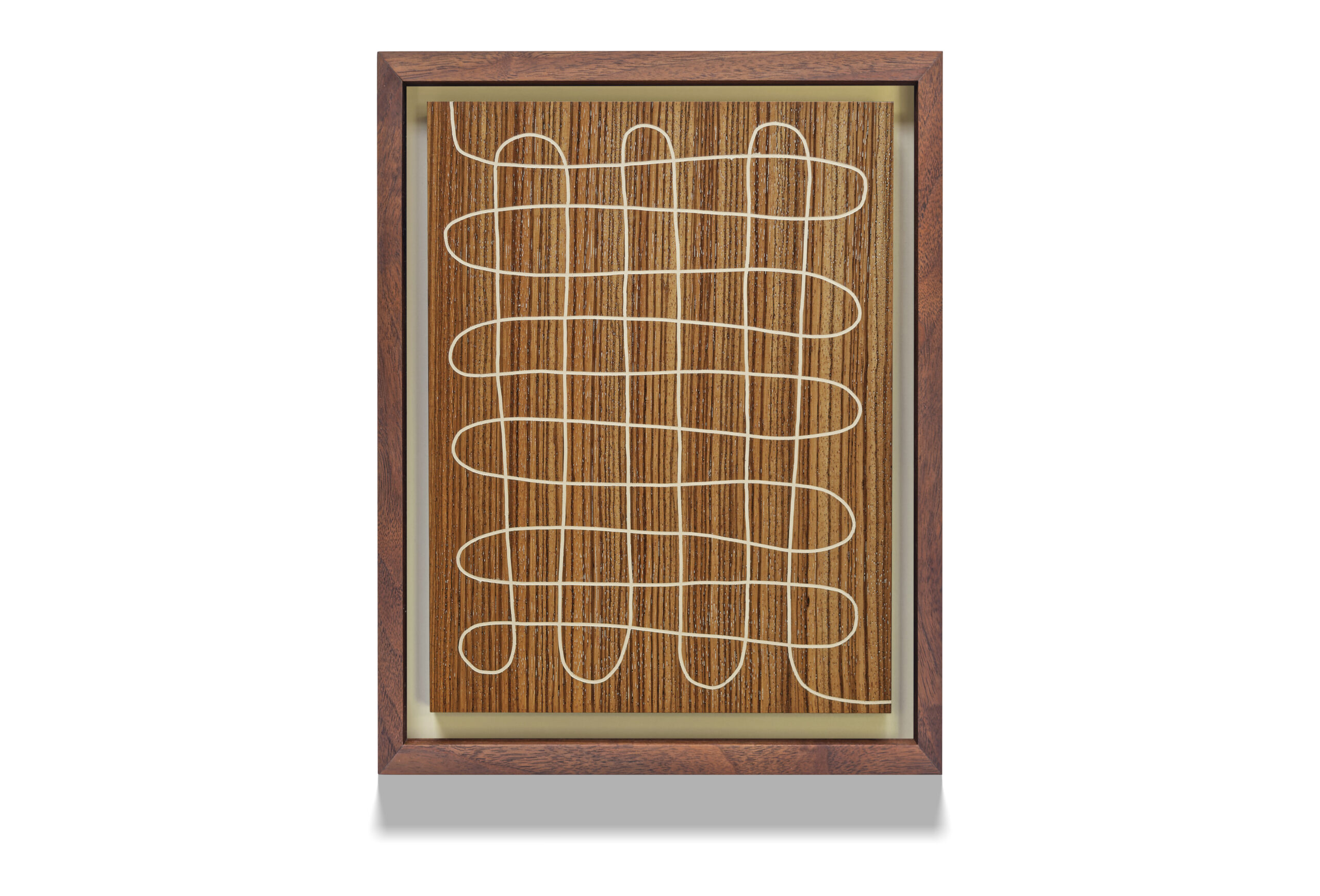 Snaky Zebra wood drawing