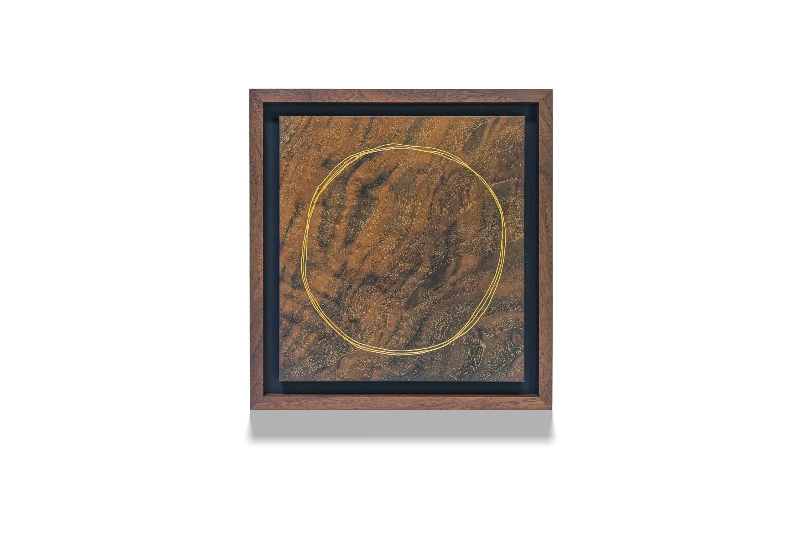 Walnut Circle wood drawing