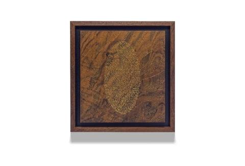 Walnut Positive Oval wood drawing
