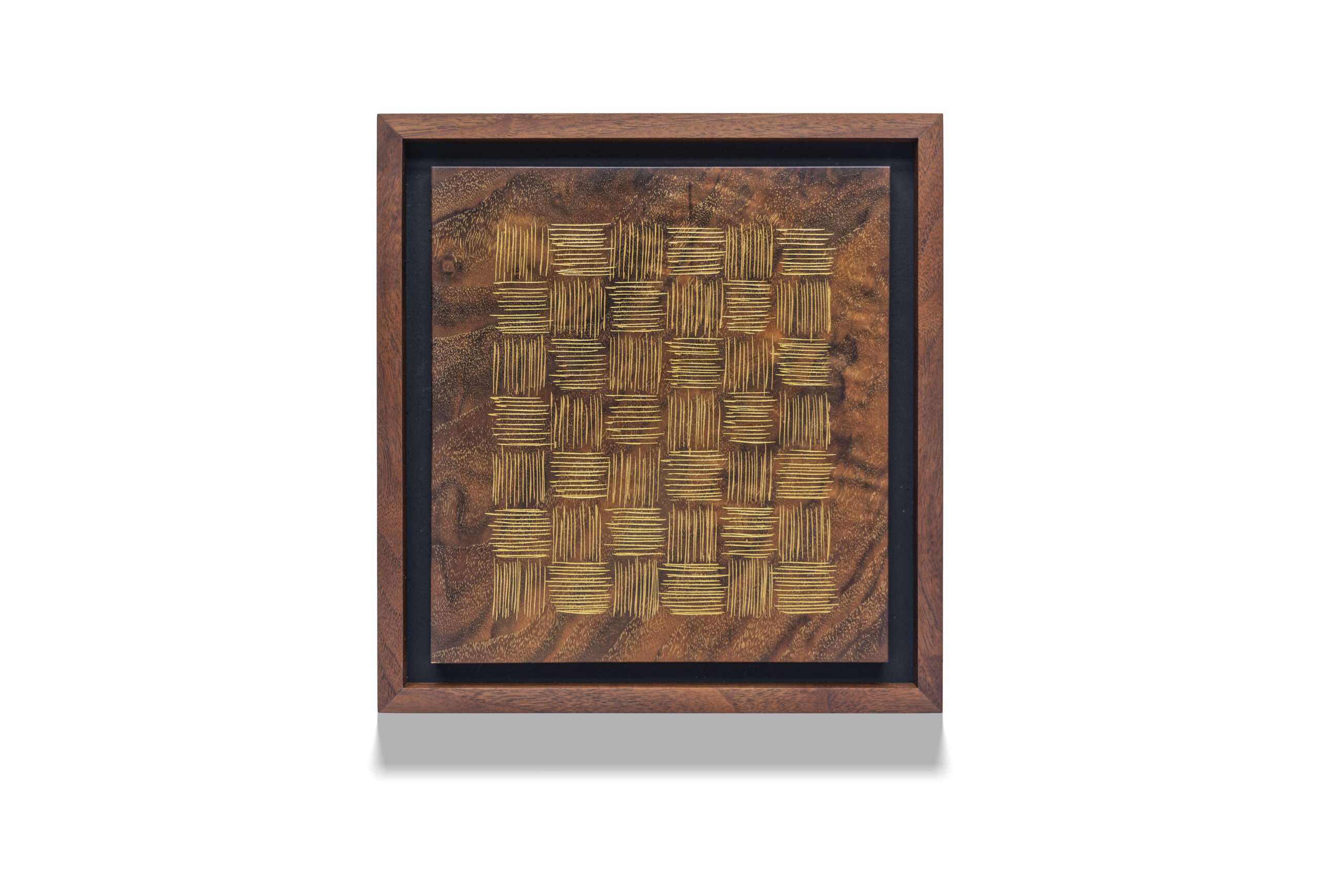 Walnut Weave wood drawing