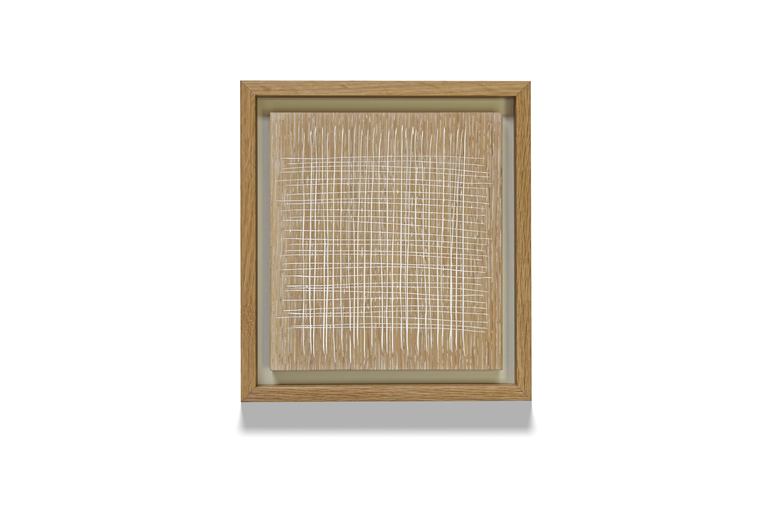White Oak Grid wood drawing