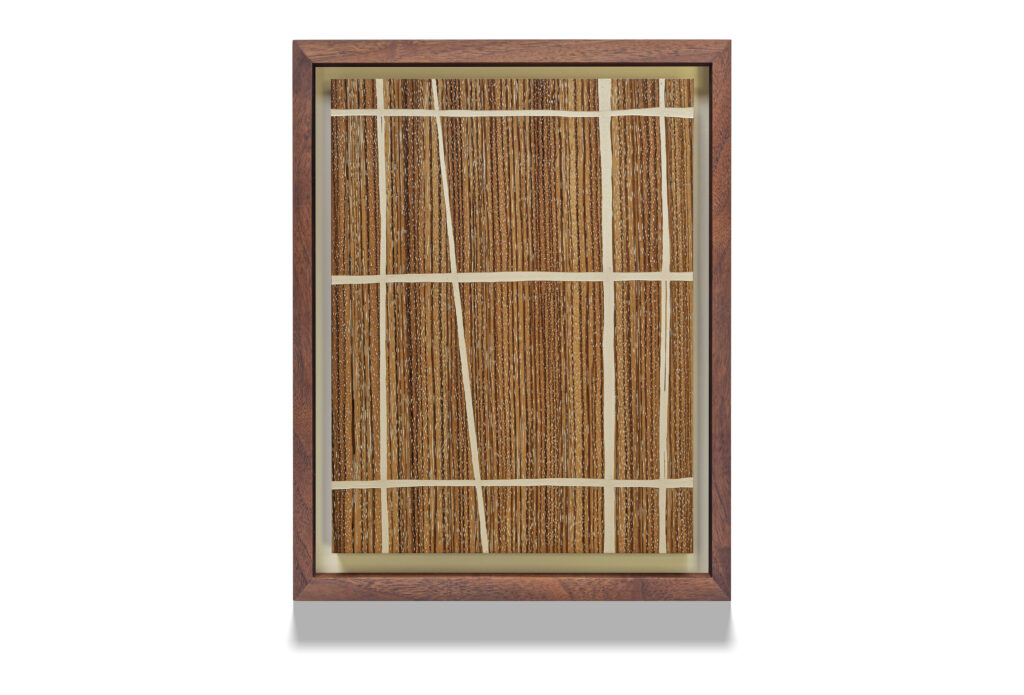 Zebra Grid wood drawing