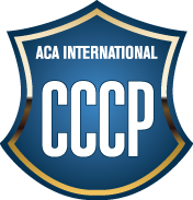 Blue badge for ACA International CCCP certification