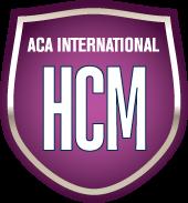 Purple badge for ACA International HCM certification