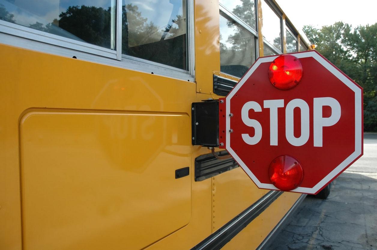 Stop Sign on School Bus