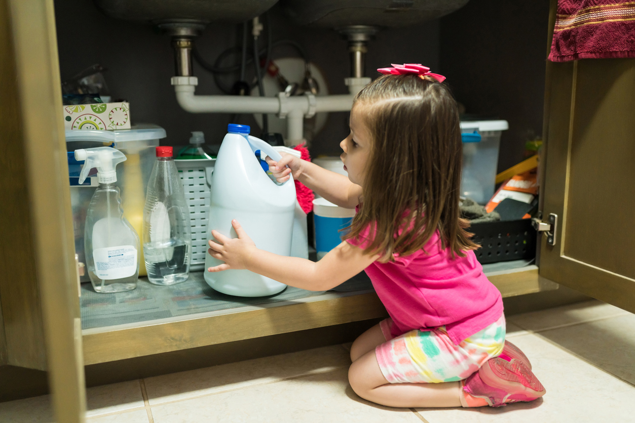 Female Toddler In Kitchen At Home
