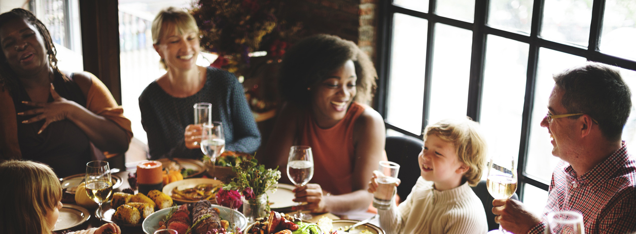 People Talking Celebrating Thanksgiving Holiday
