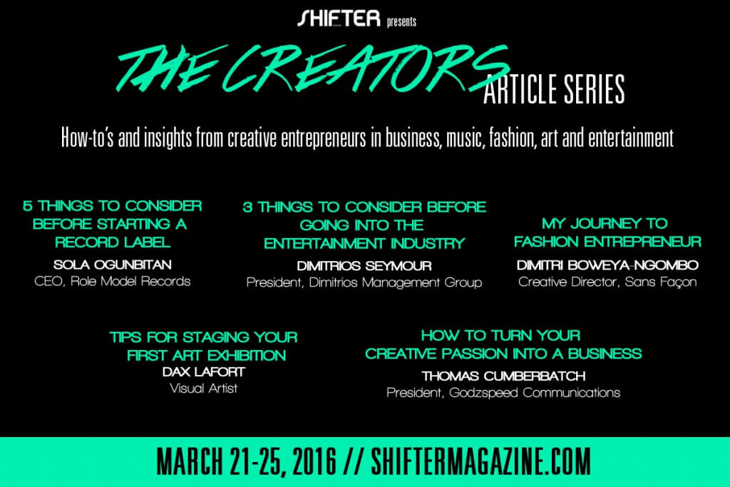 Starting a record label, The Creators Article Series