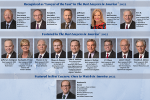 14 TWG Attorneys with names and what they were recognized for in the 2022 Best Lawyers® 2022 list