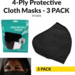 Cloth Mask reusable washable 4-ply 3-pack earloop