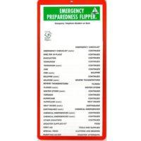 Emergency Preparedness Flip Chart for School - Home - Office