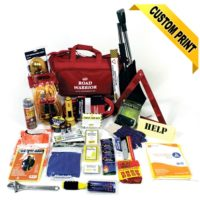 Deluxe Winter Roadside Safety Kit with First Aid