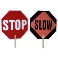 Handheld 2-sided Stop Sign